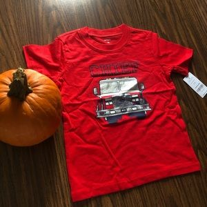 """Carter's NWT Short-Sleeved Jersey T (""""Fire Chief"""")"""